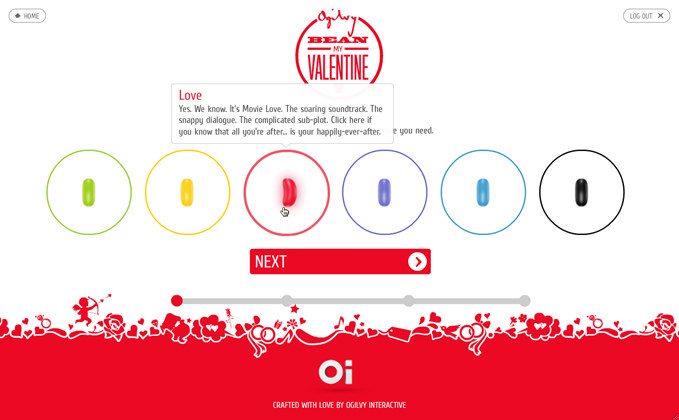 Ogilvy - Bean My Valentine Campaign