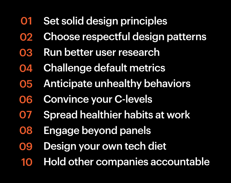 Things designers can do