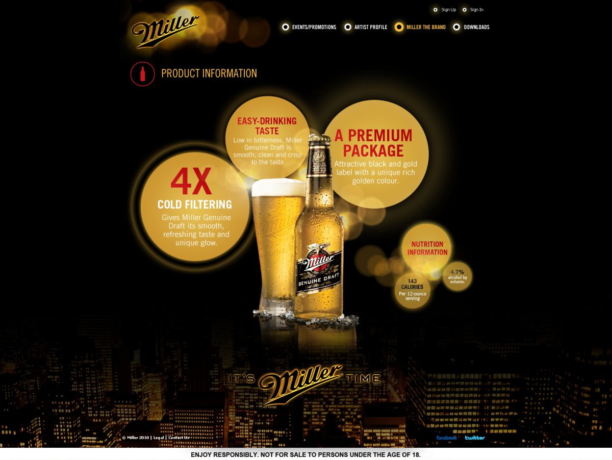 Miller Product Information